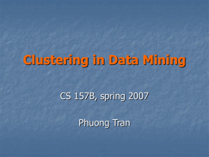 Clustering in Data Mining ( Phuong Tran)