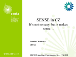 SENSE in Chech Republik (SENSE_CENIA) - Eionet