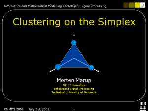 Clustering on the simplex - EMMDS 2009