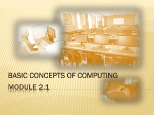The basic model of a computer