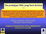 TNG Long Term Archive
