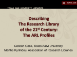 Describing the Research Library of the 21st Century: the