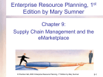 Supply Chain Management and the eMarketplace