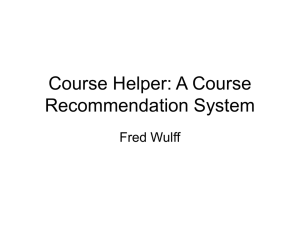 Course Helper: A Course Recommendation System