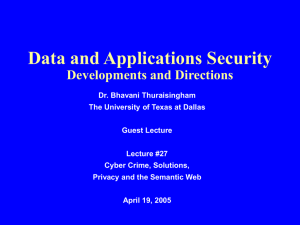 Lecture27 - The University of Texas at Dallas