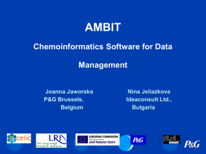 Ambit - Cheminformatics software for data