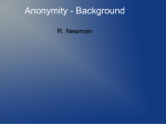 Lecture 2c - Getting a grip on anonymity