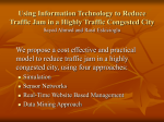 Using Information Technology to Reduce Traffic Jam in a Highly