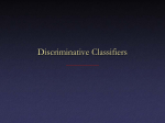 Discriminative Classifiers
