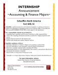 INTERNSHIP Announcement ~Accounting & Finance Majors~ Schaeffler-North America
