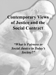 Contemporary Theories of Justice