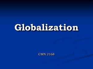 Globalization - University of Ottawa