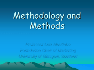 Methodology and Methods - Research