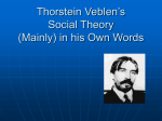 Thorstein Veblen - faculty.rsu.edu
