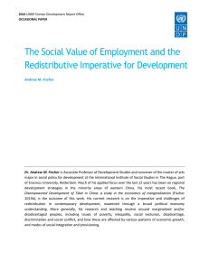 The Social Value of Employment and the Redistributive Imperative for Development