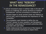 """Reborn"" in the Renaissance?"