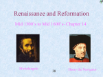 CH. 16 Renaissance and Reformation Combined PP