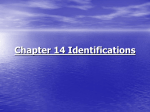 Chapter 14 Identifications