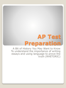 AP Test Preparation and the College Freshman