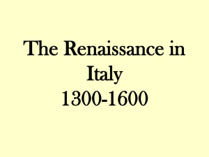 The Renaissance in Italy 1300