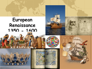 "European Renaissance – ""rebirth in learning"""