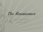 The Renaissance - Basic Information PPT