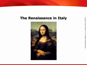 1.1 the renaissance in italy