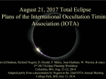 IOTA Plans for the 2017 Total Solar Eclipse
