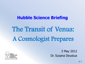 The 2012 Transit of Venus - HubbleSOURCE