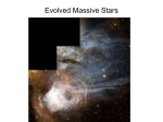 Evolved Massive Stars - University of Arizona