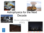 Astrophysics for the next decade