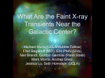 What Are the Faint X-ray Transients Near the Galactic Center?