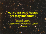 Active Galactic Nuclei: are they important?