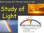 Earth Science 24.1 The Sun: Study of Light