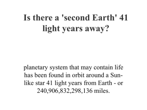 Is there a 'second Earth' 41 light years away?