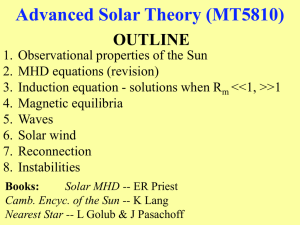 Advanced Solar Theory (MT5810)