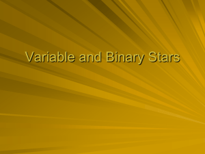 Variable and Binary Stars
