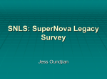 SNLS: SuperNova Legacy Survey
