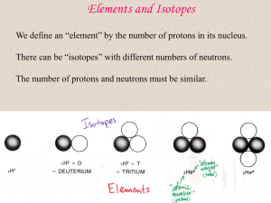 Elements and Isotopes - University of California, Berkeley