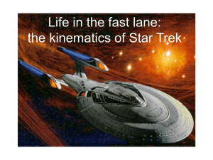 Life in the fast lane: the kinematics of Star Trek