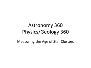 Astronomy 360 Physics/Geology 360