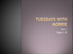 Tuesdays with Morrie - DuBois Area School District