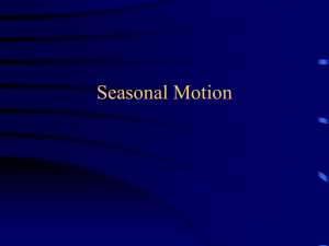 Seasonal Motion