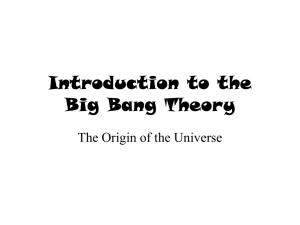 Introduction to the Big Bang Theory