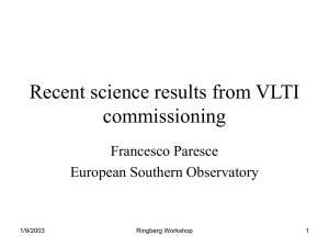 Recent science results from VLTI commissioning