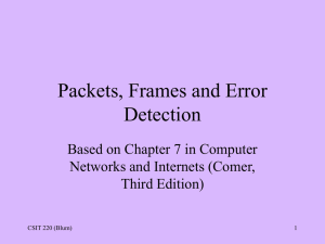 Error checking and Ethernet