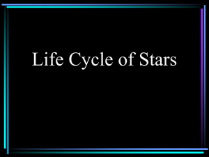 Life Cycle of Stars: Chapter 21