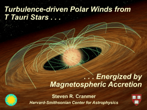 Turbulence-driven Polar Winds from T Tauri Stars Energized by