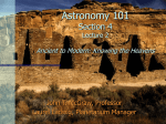 Lecture 2 - Physics and Astronomy