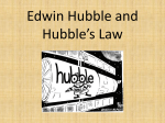 Hubble`s Law Notes